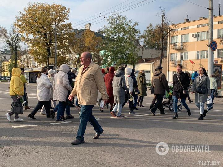 Марш пенсионеров в Бресте