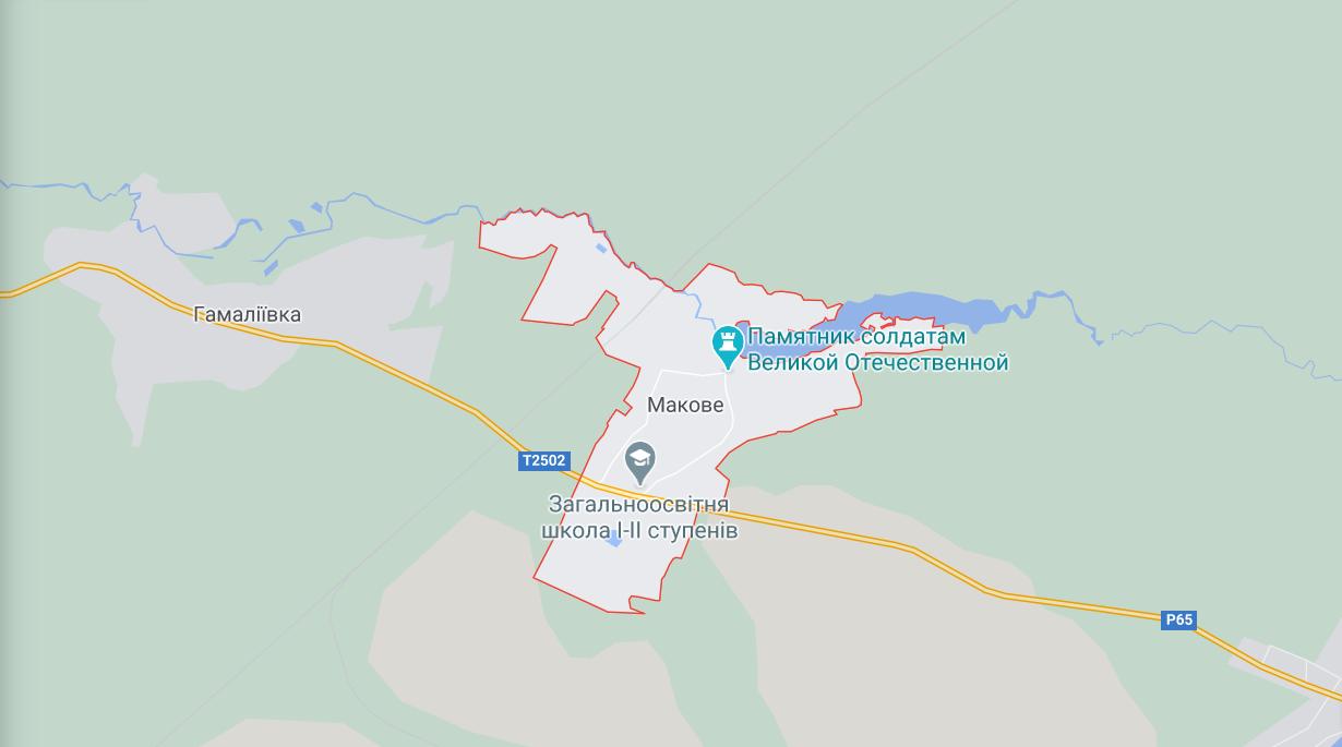 Карта місця ДТП на Сумщині