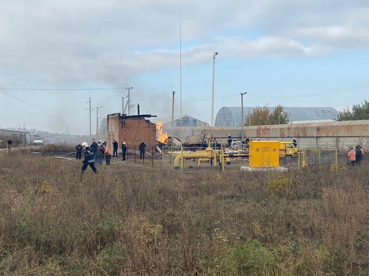 Из-за взрыва под Дергачами загорелся газ