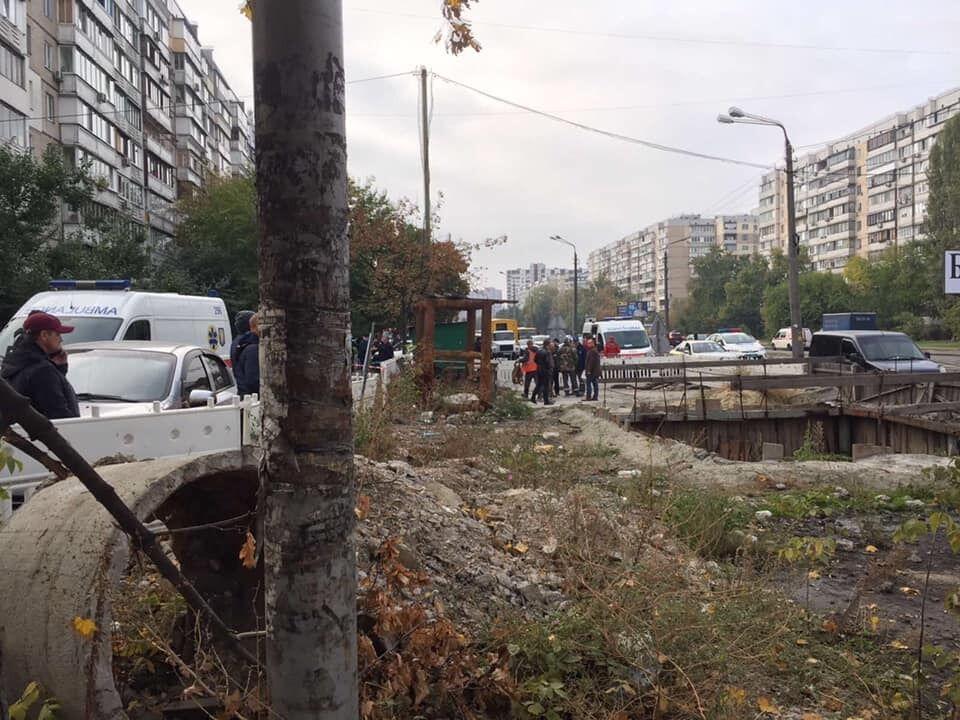 В Киеве произошла авария в коллекторе.