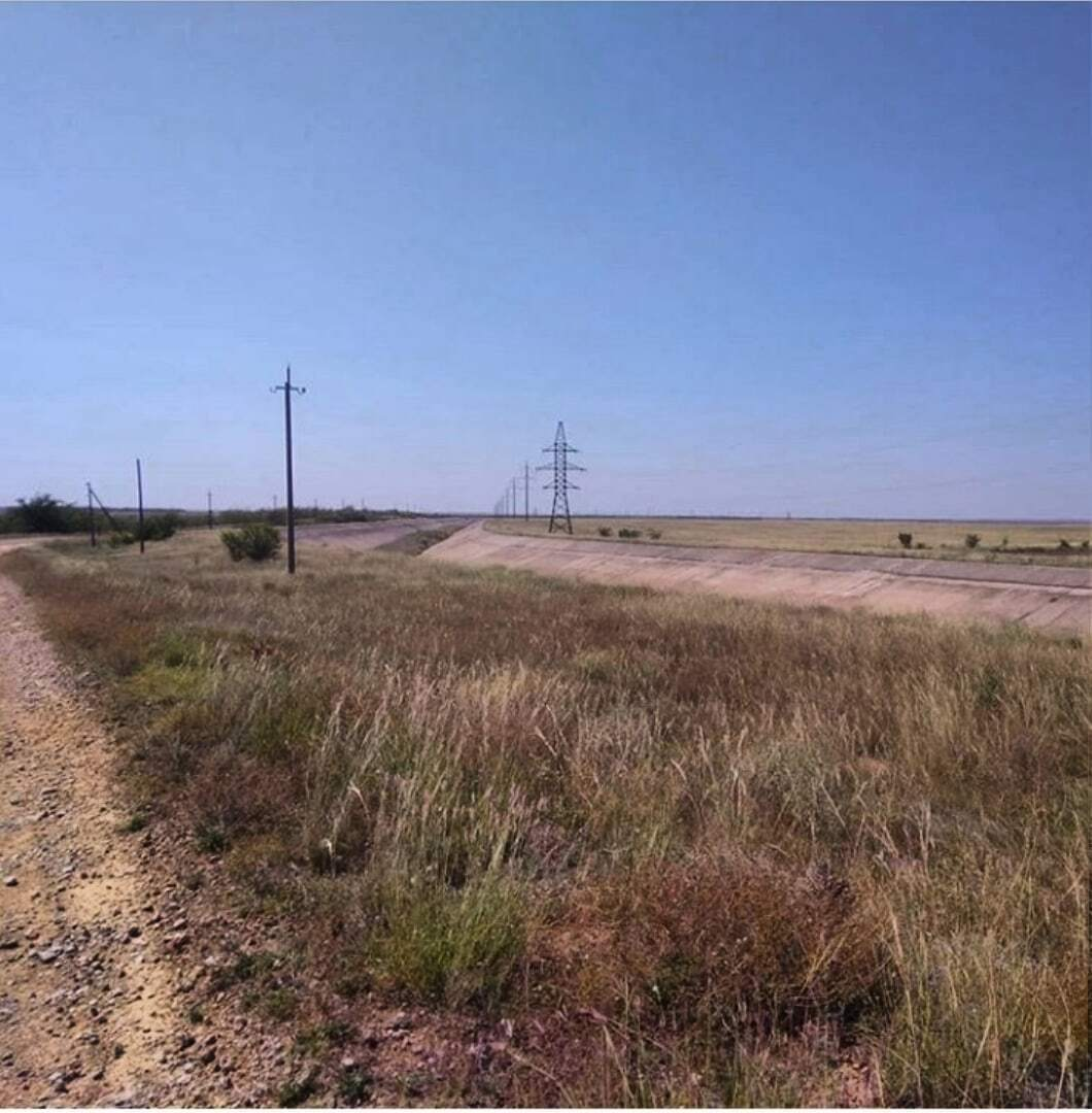 Дно Северо-Крымского канала поросло травой