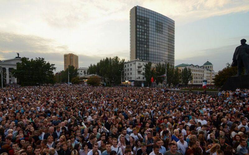 На концерте Лепса в Донецке собралось 70 тыс. людей