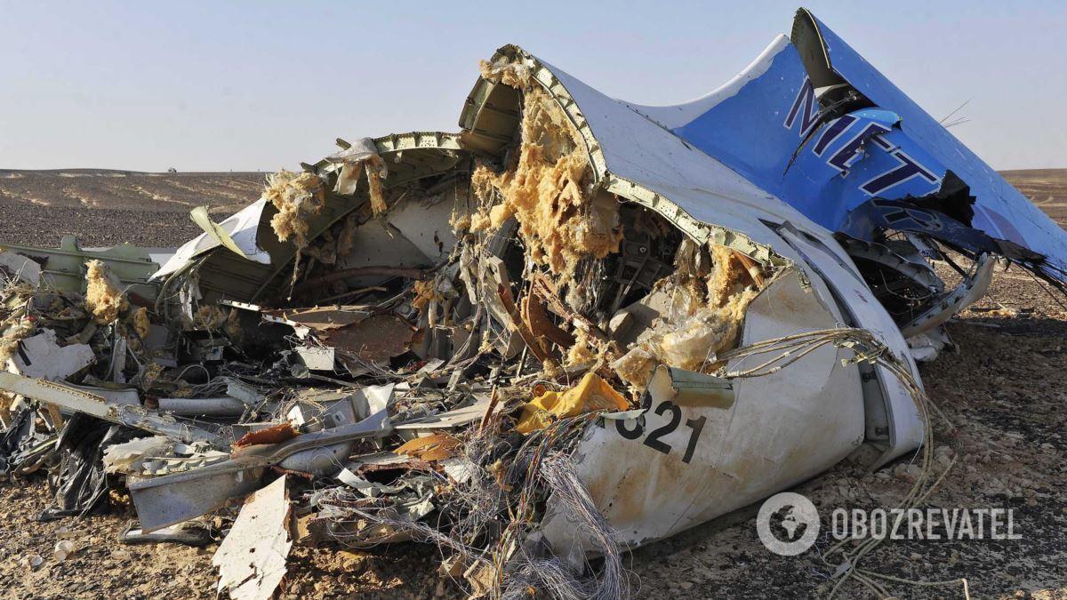 A321 розбився в Єгипті над Синайським півостровом