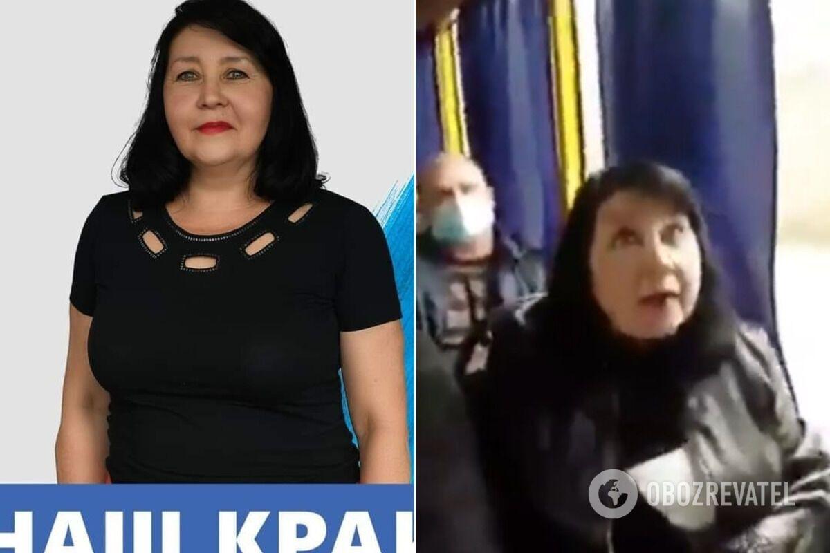 В скандалистке узнали кандидата в депутаты Славянска.