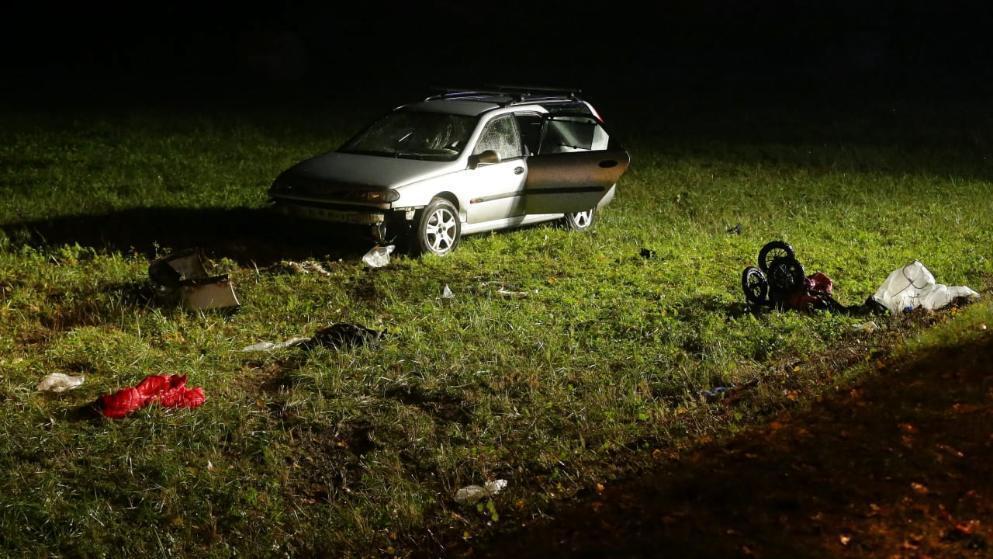Автомобиль сбил велосипедистов