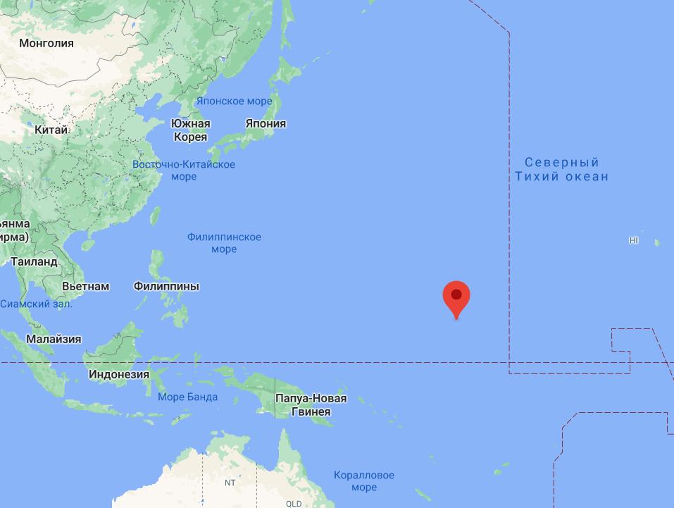 Маршалловы острова в Тихом океане.