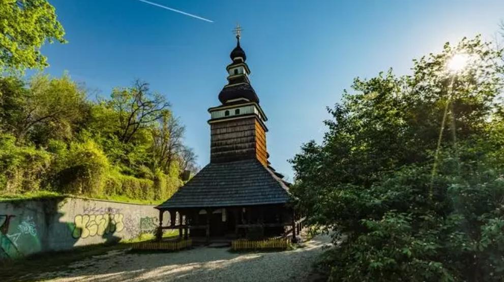 Первоначальный вид церкви Святого Михаила в Праге.