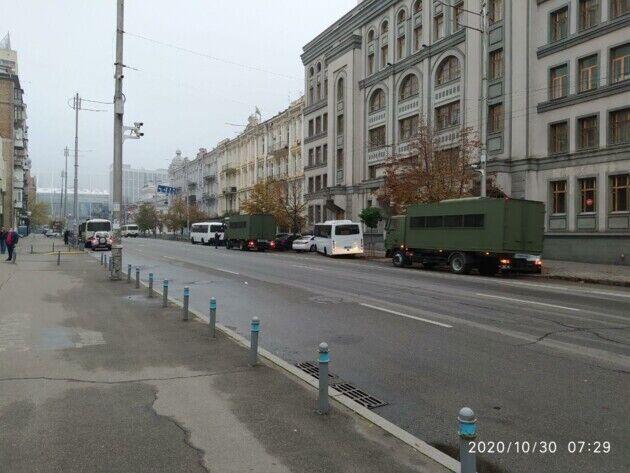 Спецтехника замечена в районе Конституционного суда Украины