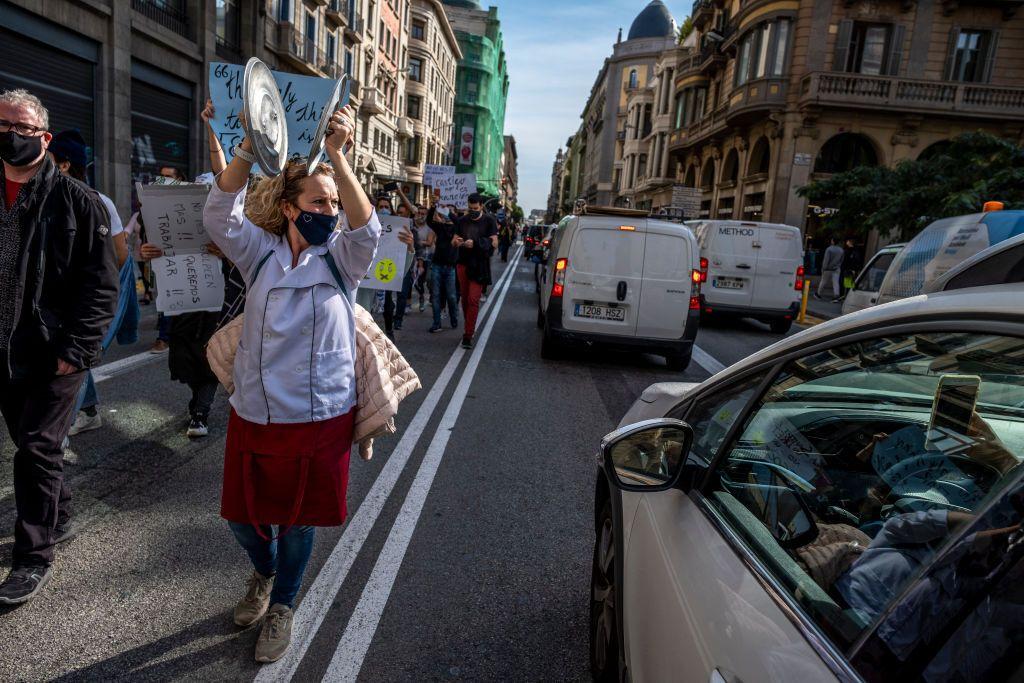 В Іспанії проходили протести проти карантинних обмежень