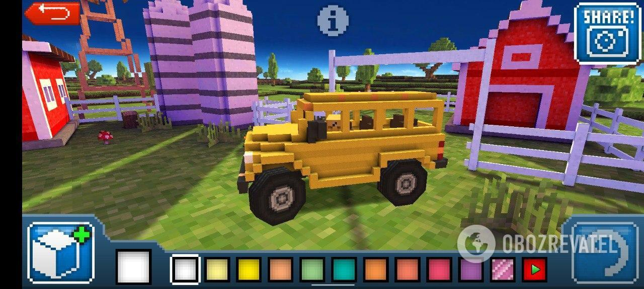 Можно создать любой автомобиль! Школьный автобус – почему бы и нет?