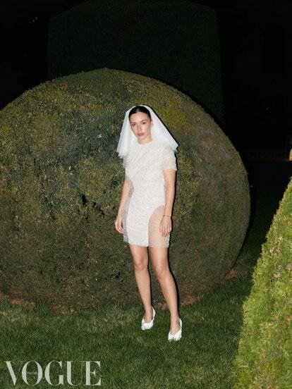 Ольга Серябкіна у весільній сукні