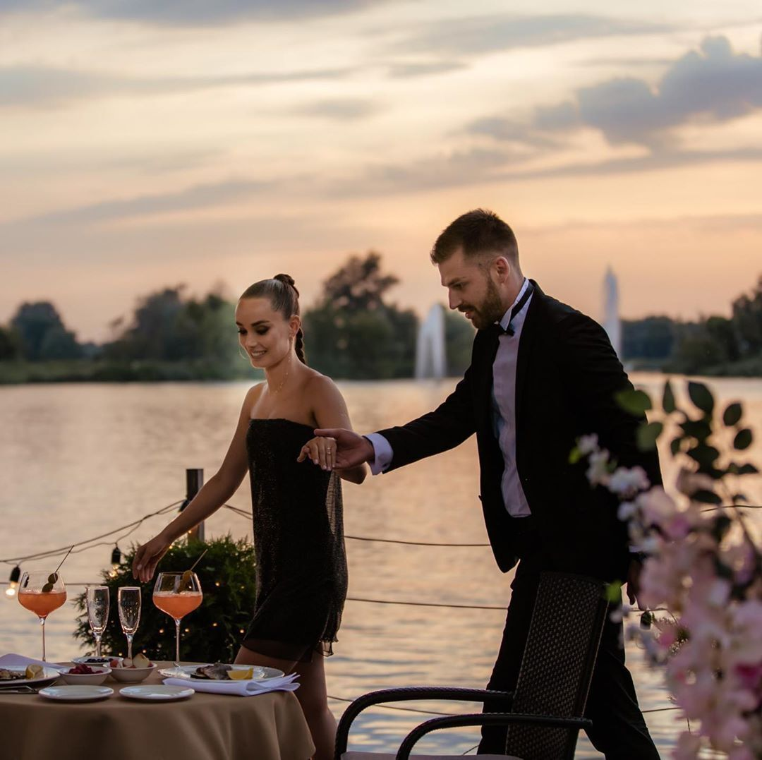 Ксения Мишина и Андрей Рыбак на первом свидании.