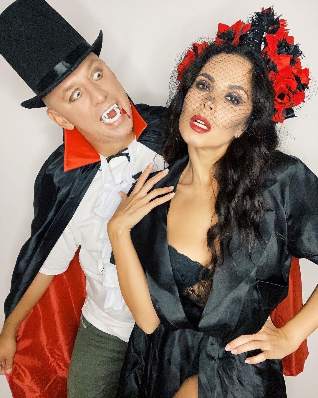 Каменских и Потап показали костюмы на Хеллоуин.