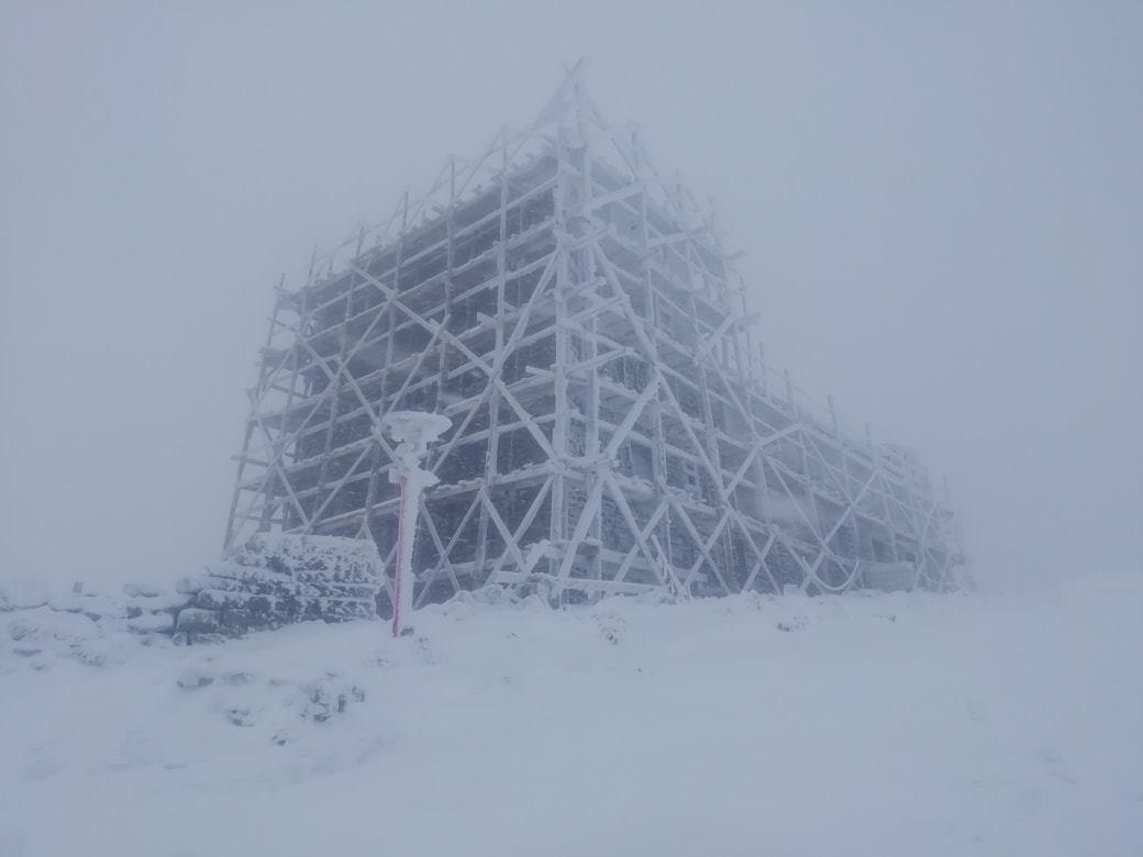 В Карпатах выпал снег.