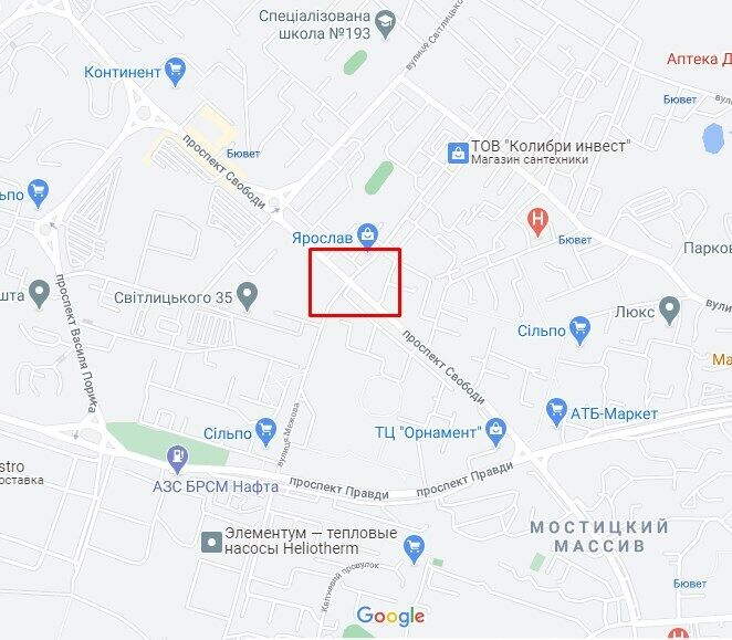Аварія сталася на перехресті проспекту Свободи та вулиці Межовій.
