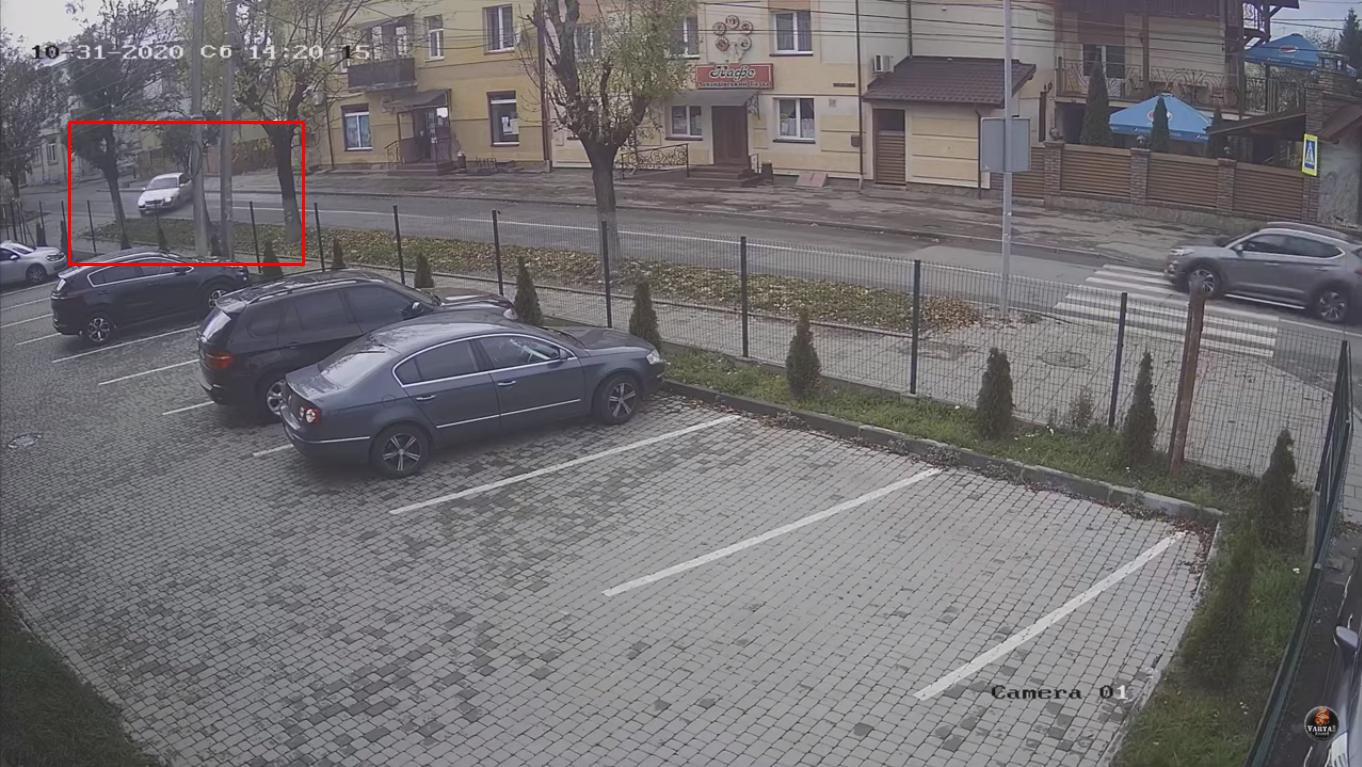 Машину занесло на дороге