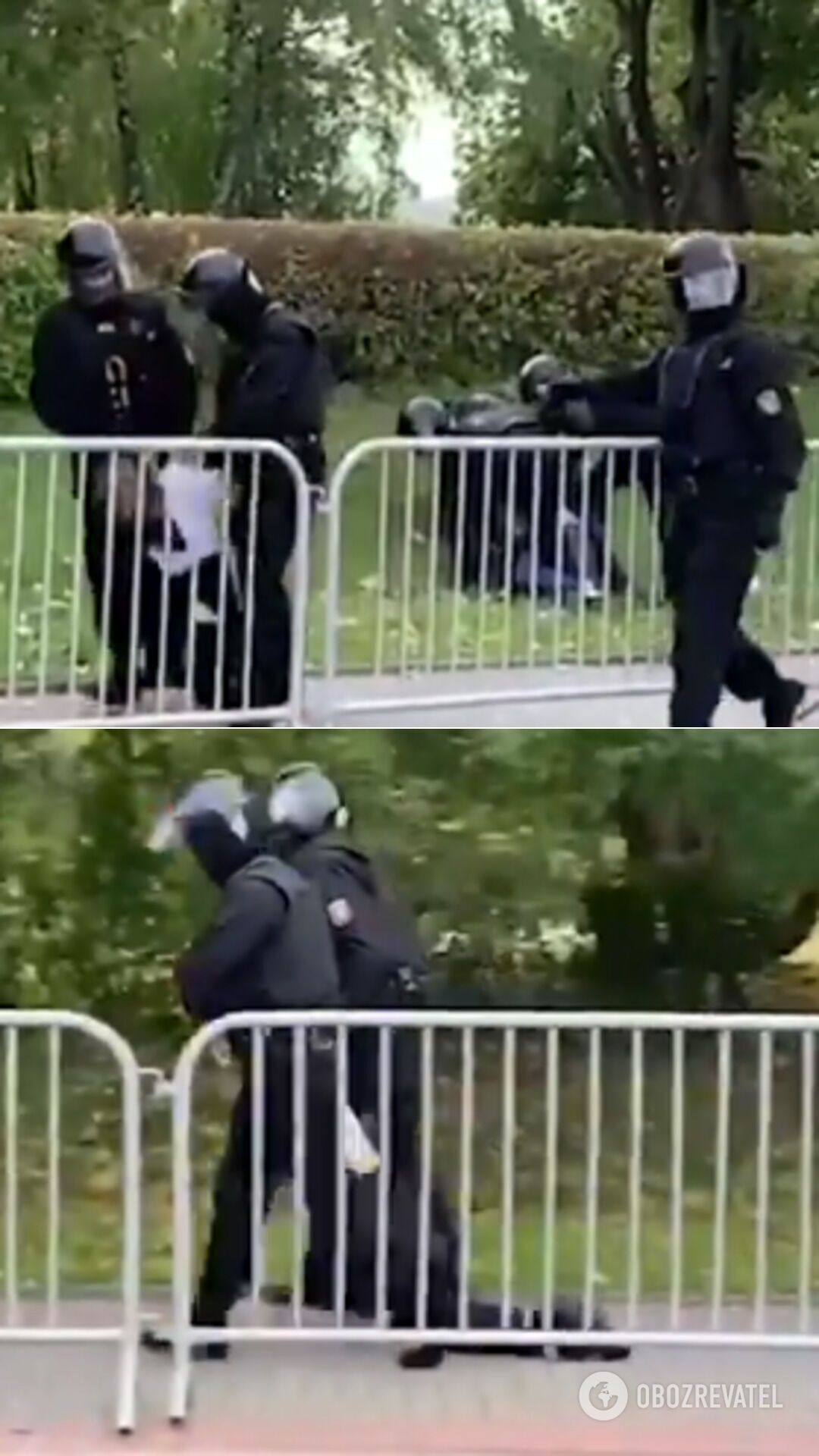 Задержание ОМОНом подростка в Гродно