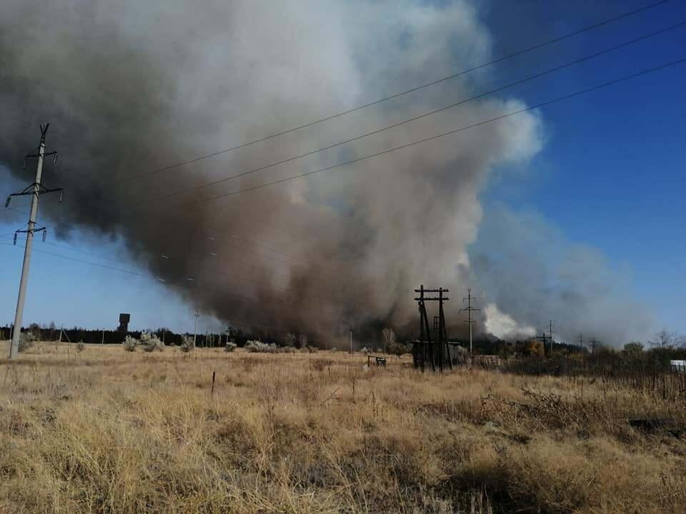 На Луганщині спалахнула нова пожежа.