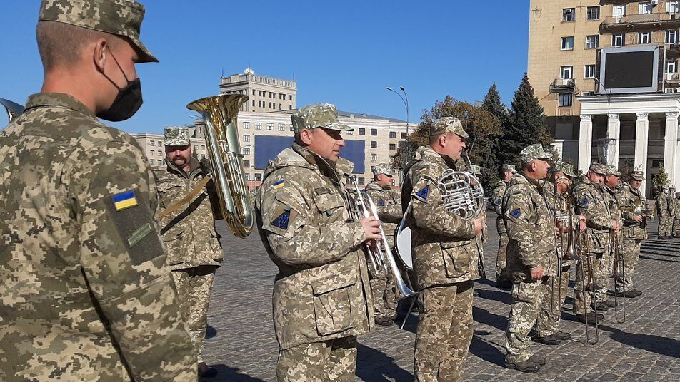 В мероприятии примет участие военный оркестр ВСУ.