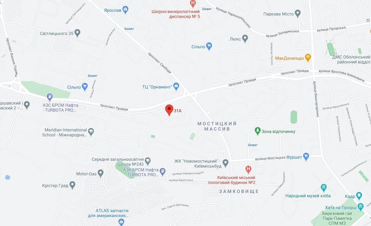 Трагедия произошла в Киеве на проспекте Правды, 31А.