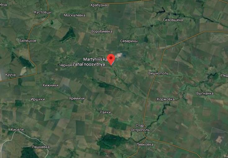 Село Мартинівка налічує менш ніж пів тисячі жителів