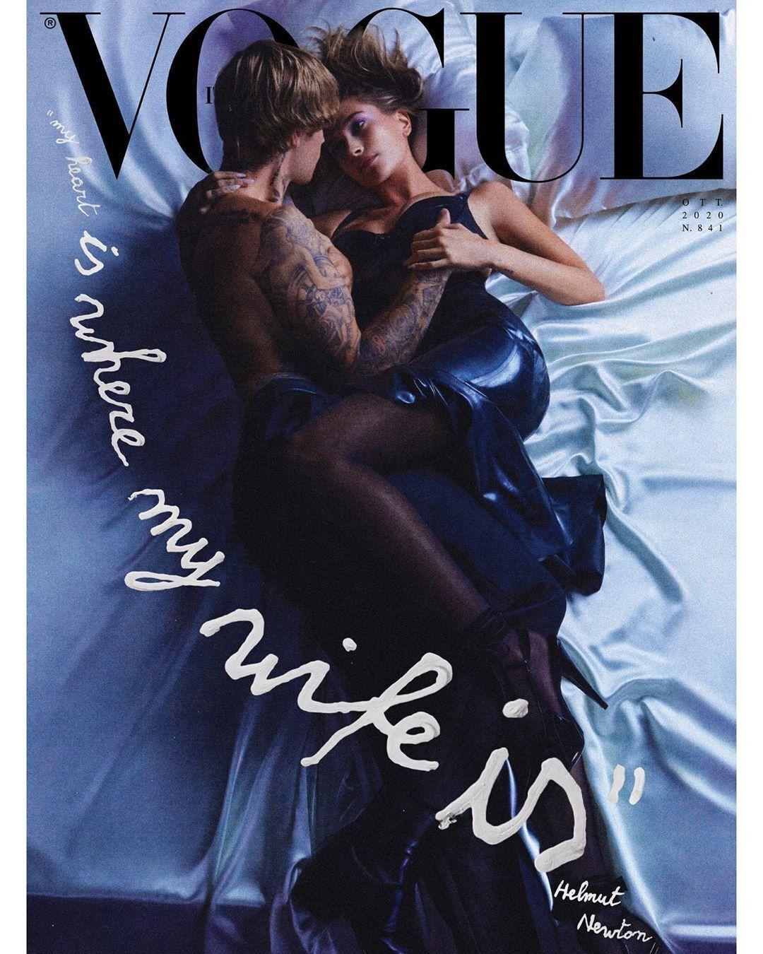 Пара снялась для обложки журнала.
