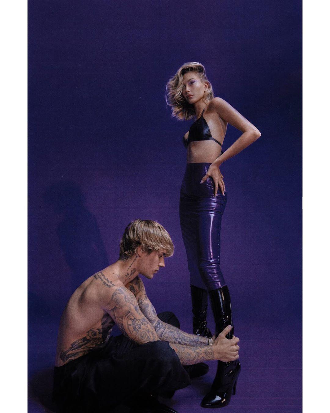 Джастин и Хейли Бибер в фотосессии от Vogue Italia.