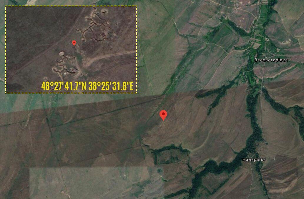 У повідомленні вказано координати розташування мінометів.