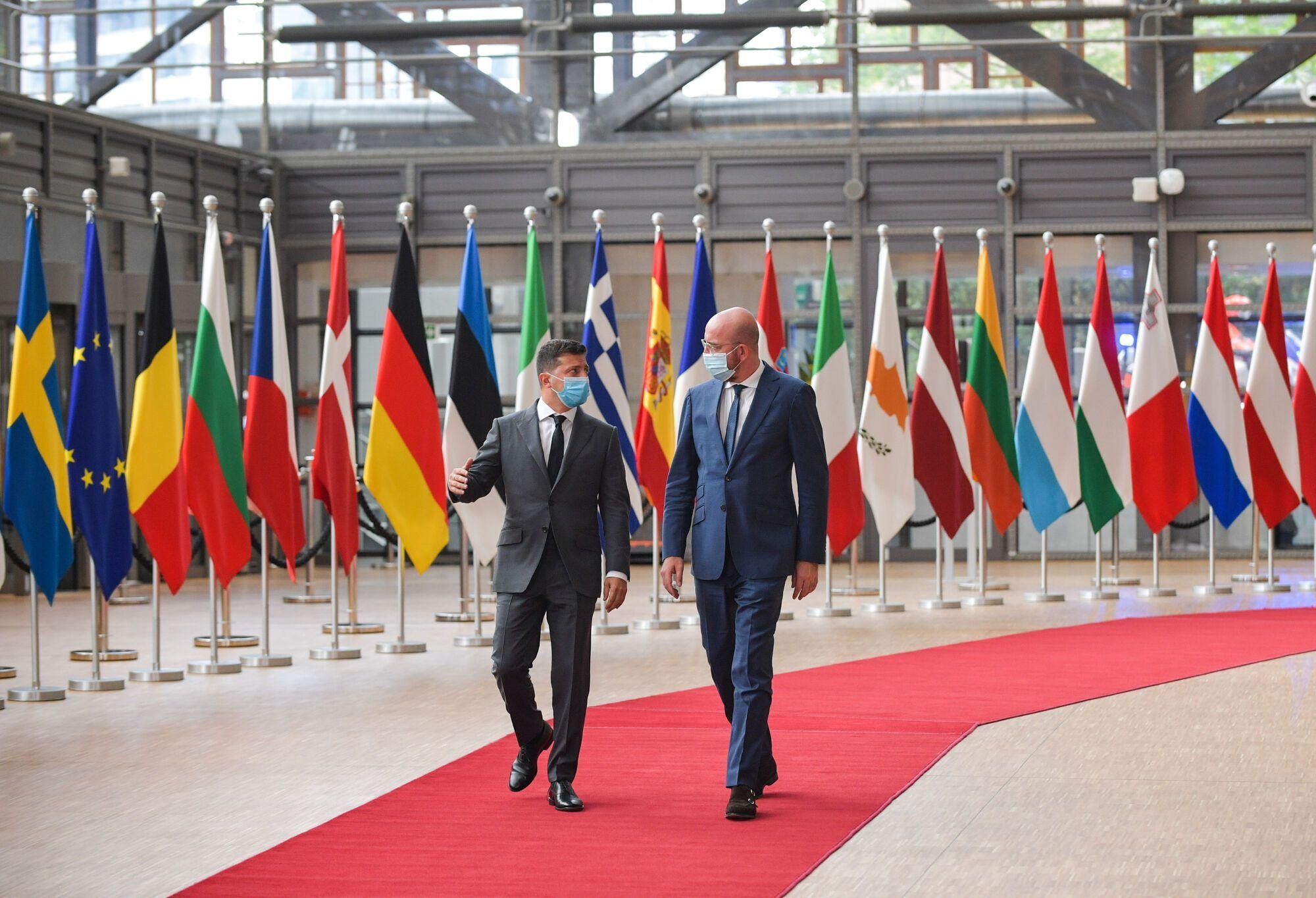Зеленский на саммите в Брюсселе.