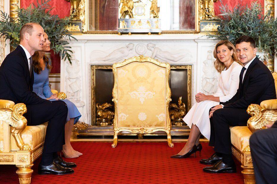 Встреча Зеленских с принцем Уильямом и Кейт Миддлтон