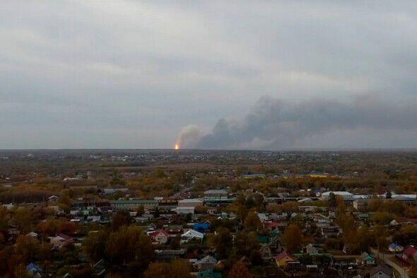 Дым было видно за несколько километров