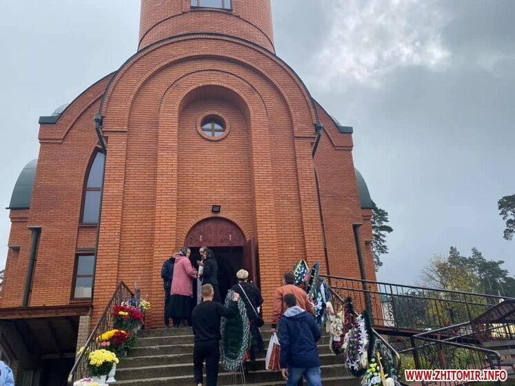 Прощание с Дмитрием Студинским в храме села Скоморохи.
