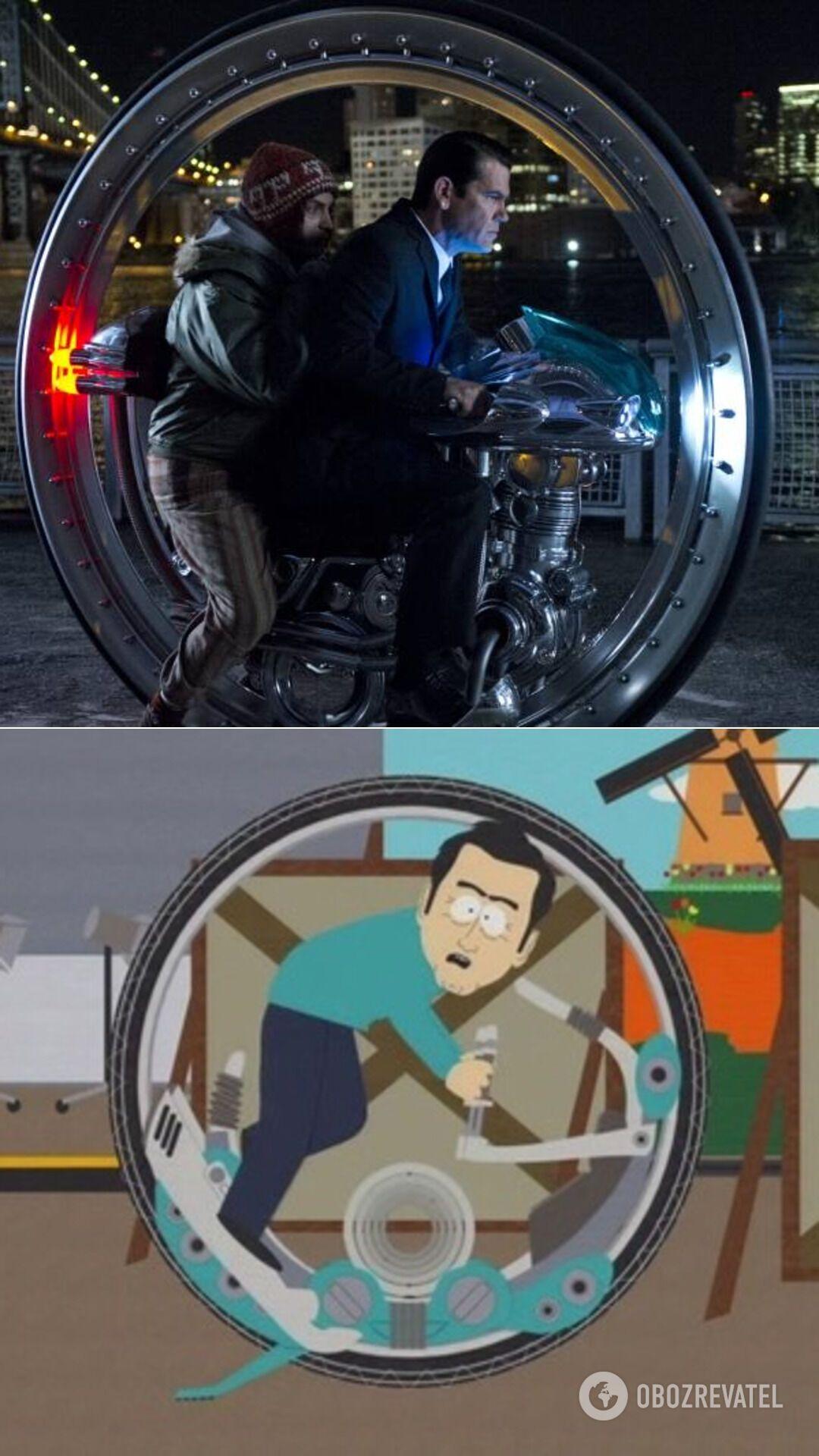 Мотор-колесо в кинематографе