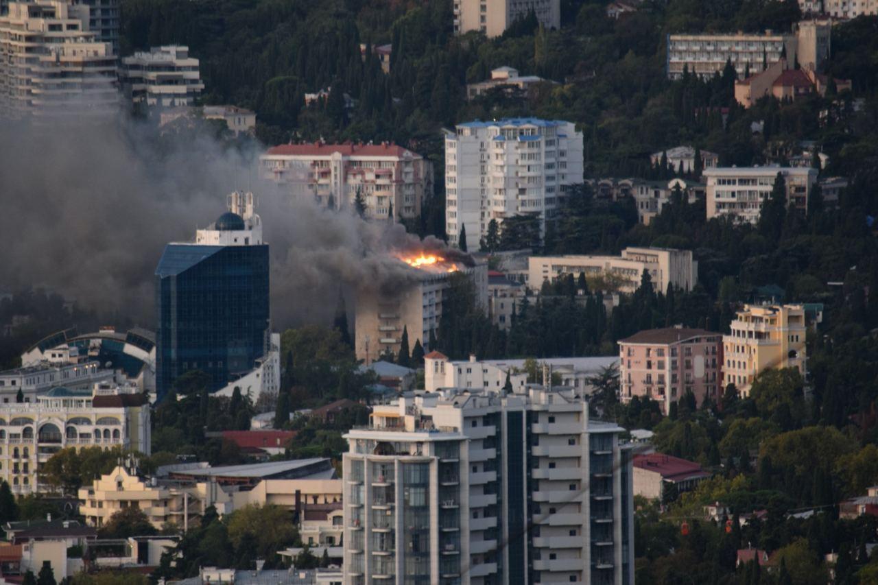 О пострадавших в результате пожара не сообщалось