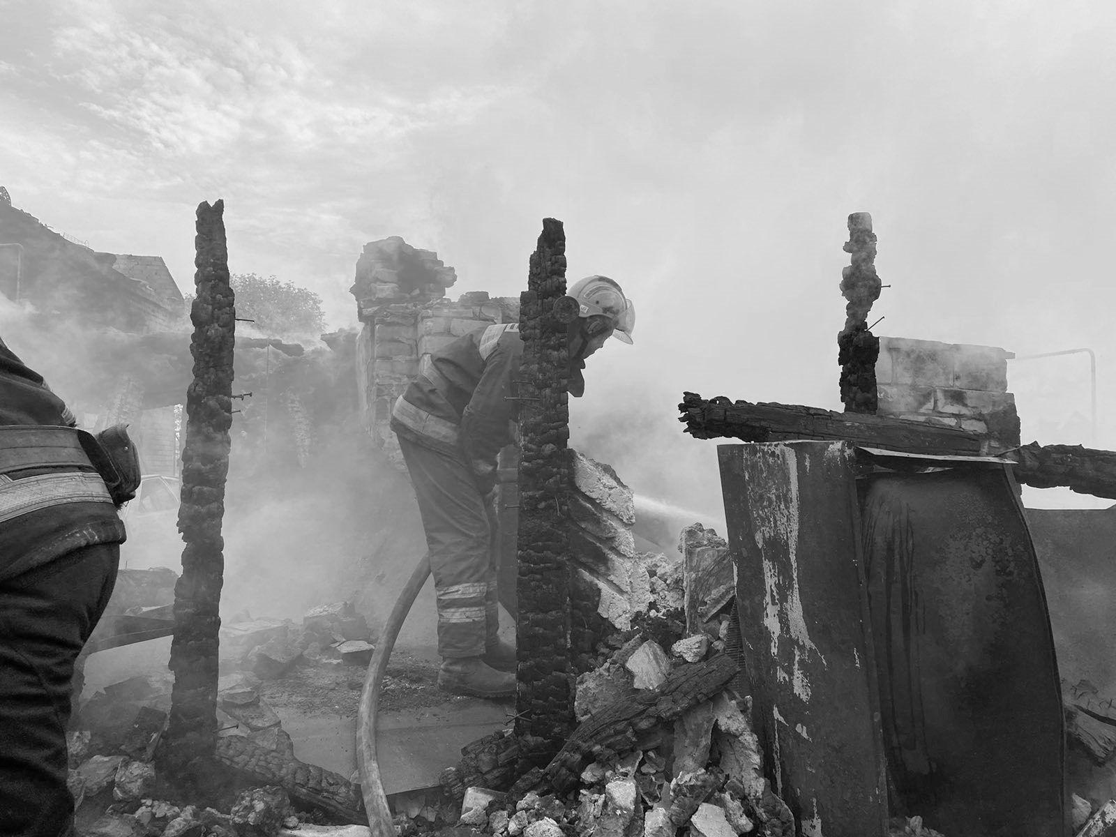 Последствия пожаров в Луганской области.