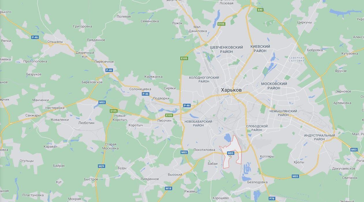 Микрорайон Жихарь в южной части Харькова.