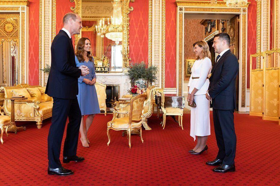 Володимир і Олена Зеленські зустрілися з принцом Вільямом і Кейт Міддлтон.