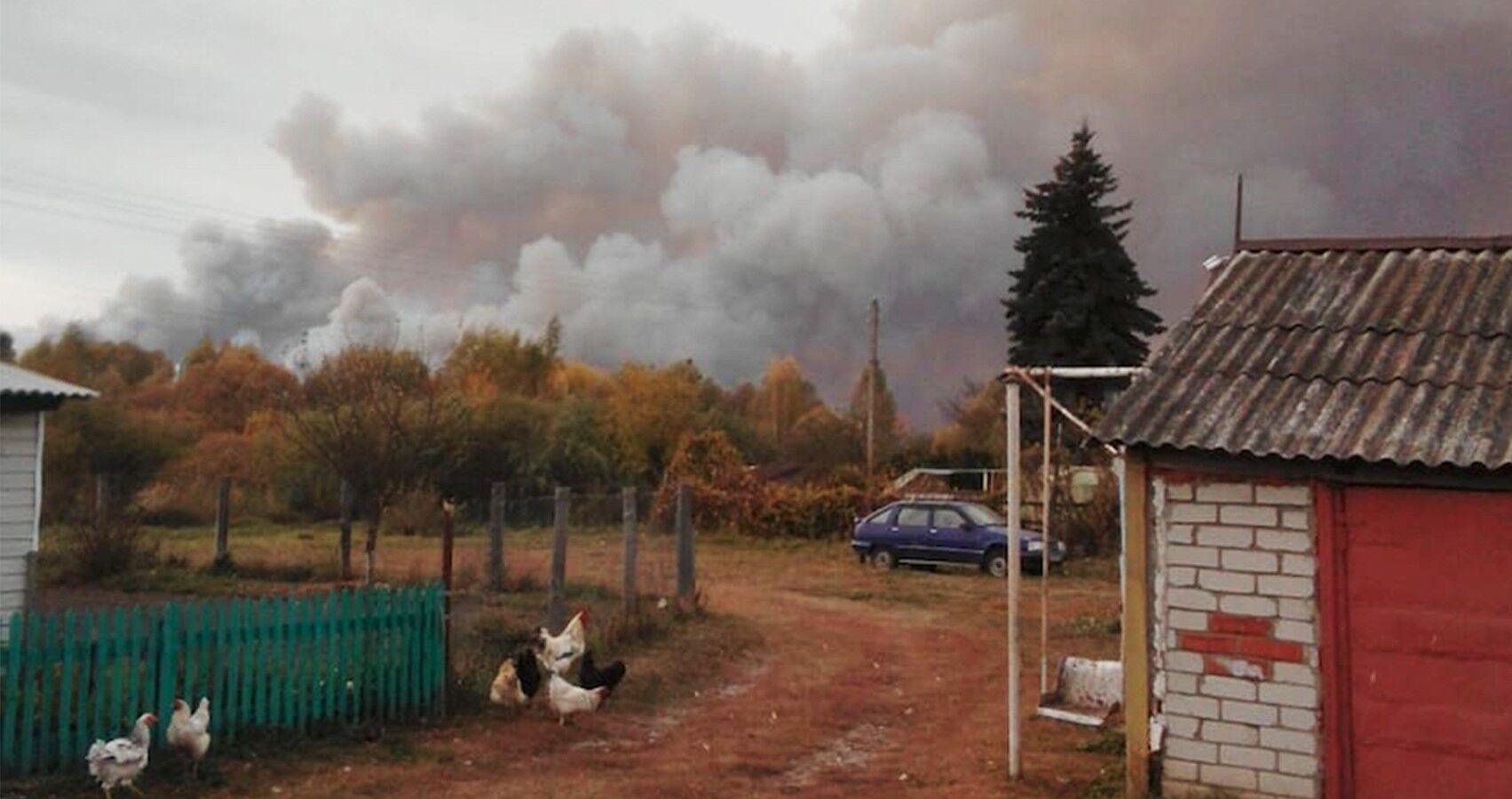 В результате ЧП сгорело более 20 зданий в двух населенных пунктах Рязанской области.