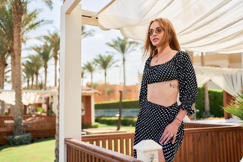 Слава Каминская стала первым клиентом Rixos Sharm El Sheikh после открытия отеля 1 октября 2020 года