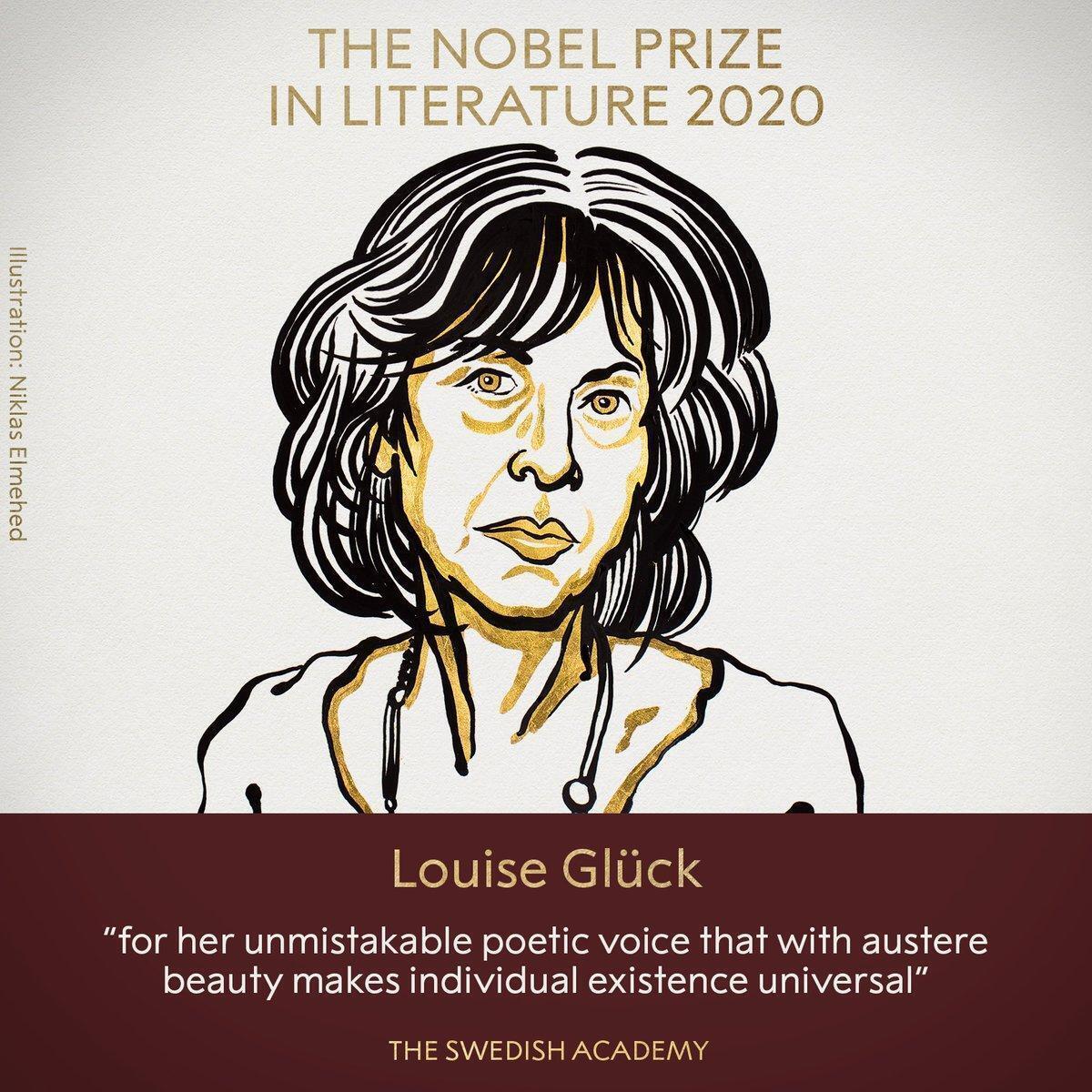 Луиза Глюк получила Нобелевскую премию в области литературы.