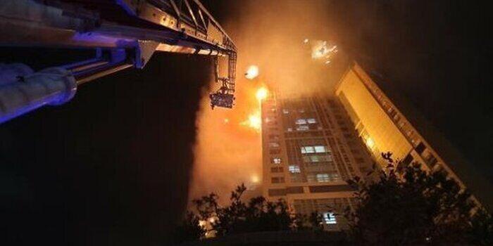 Пожежні намагаються загасити пожежу в Ульсані