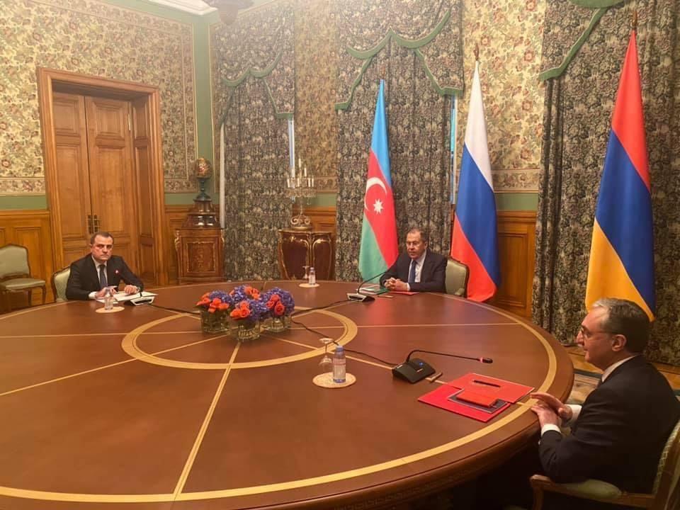 Начались переговоры по Карабаху в Москве. Фото: Пул NЗ