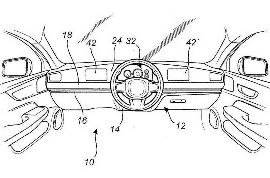 Патент Volvo на подвижные органы управления автомобилем.