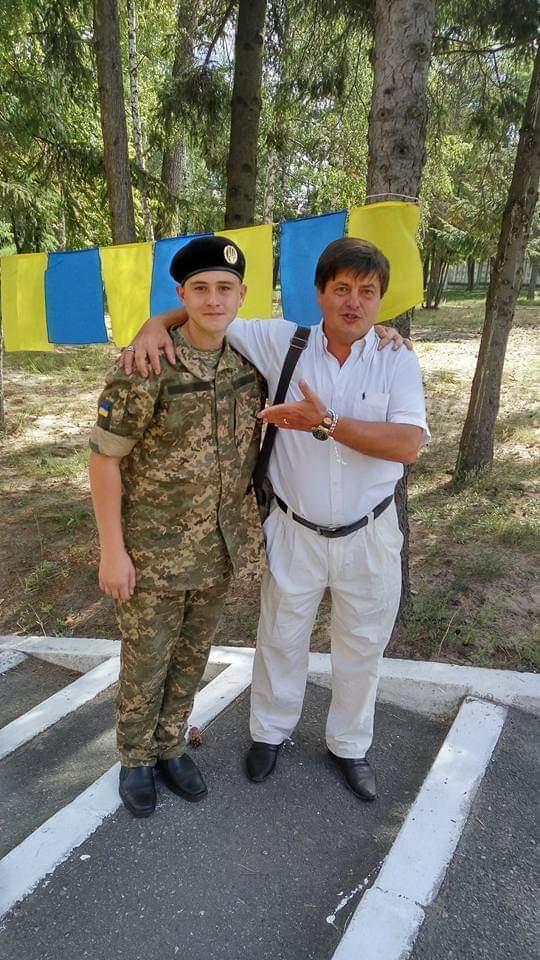 Эдуард Полянский и его опекун Андрей Павленко.