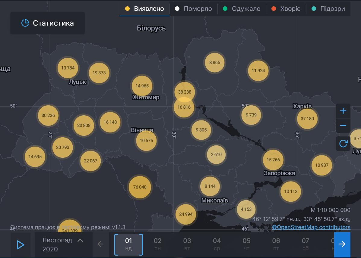Статистика по COVID-19 в регионах.