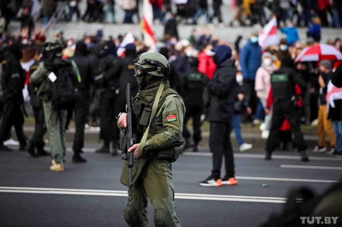 Силовики на Марше против террора.