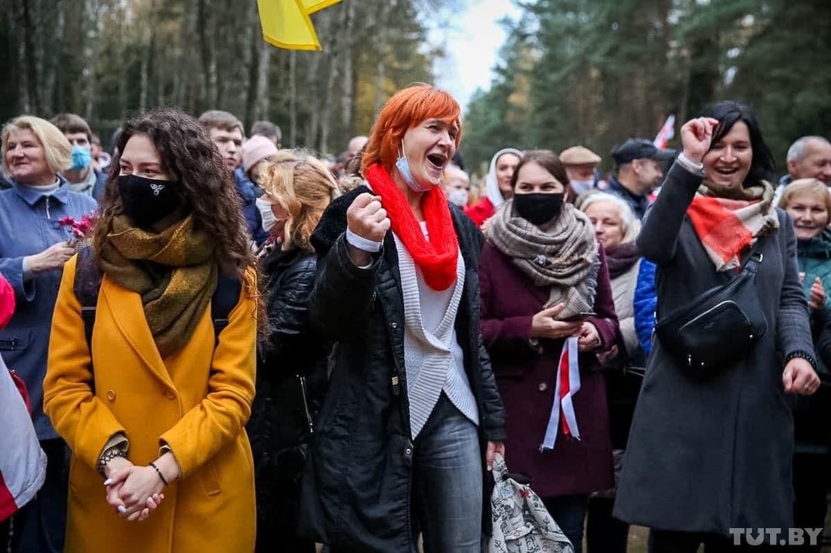 Протестующие в столице Беларуси