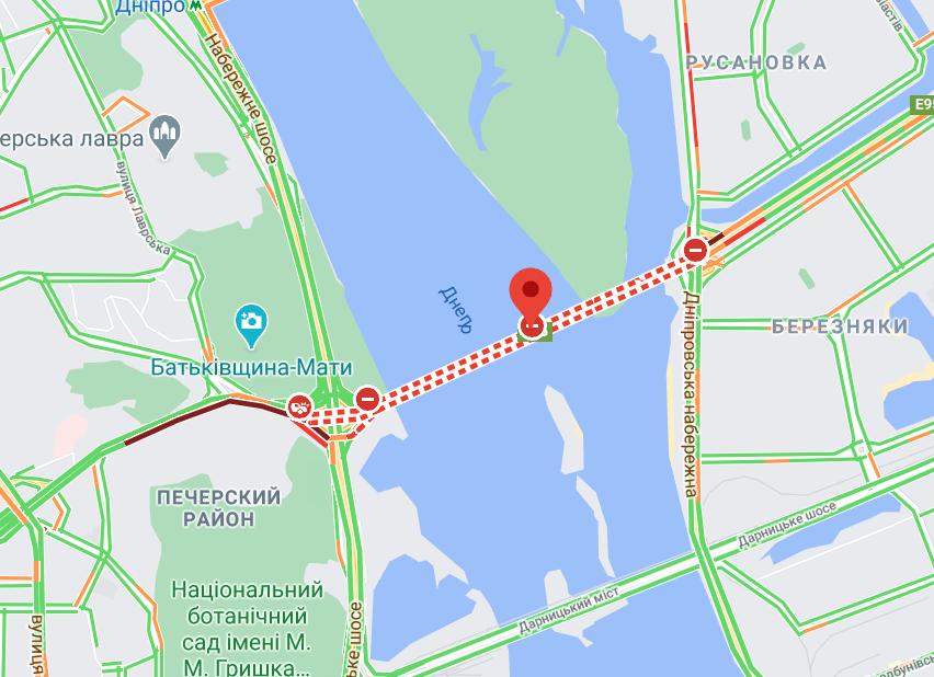 Міст Патона в Києві.