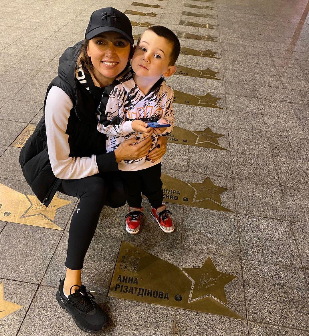 Анна Ризатдинова с сыном