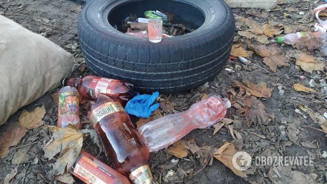 На місці НП знайшли пляшки